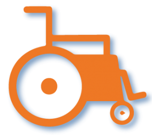 orange-wheel-chair
